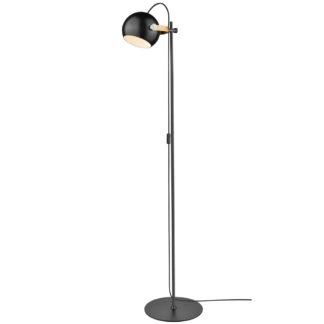 DC gulvlampe 1L sort