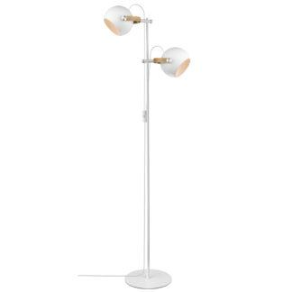DC gulvlampe 2L hvit
