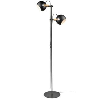 DC gulvlampe 2L sort