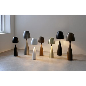 Anemon bordlampe medium oxidgrå
