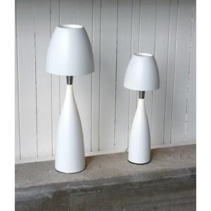 Anemon bordlampe liten hvit