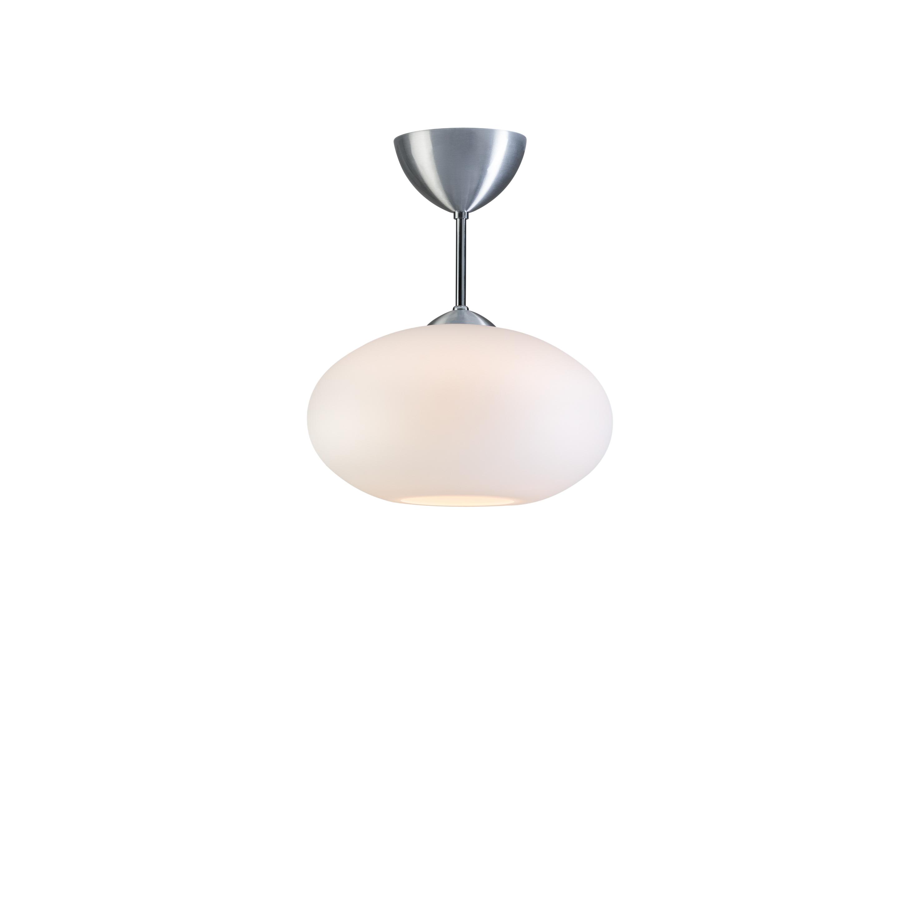 Bullo m/stang opalhvitt glass/aluminium IP21
