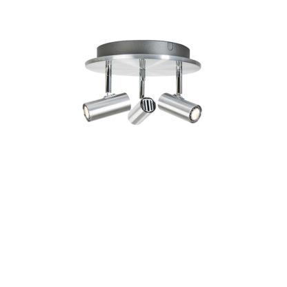 Cato 3 rondell LED aluminium dimbar