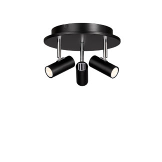 Cato 3 rondell LED mattsort dimbar