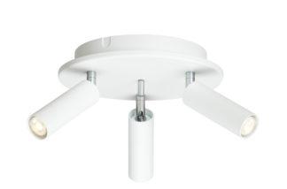 Cato Slim rondell 3-lys hvit