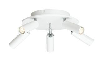 Cato Slim rondell 5-lys hvit