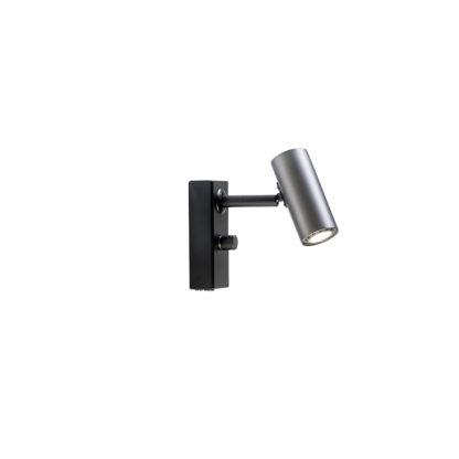 Cato LED veggspot m/dimmer oxidgrå