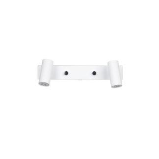 Cato LED veggspott dobbel hvit m/dimmer