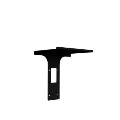 Tyson veggspot sort m/hylle og USB