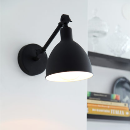 Bazar mini vegglampe sort