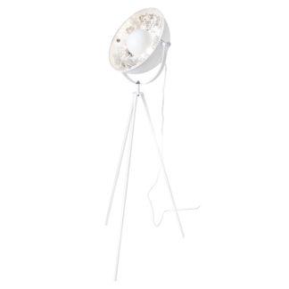 Captain mini gulvlampe hvit/sølv