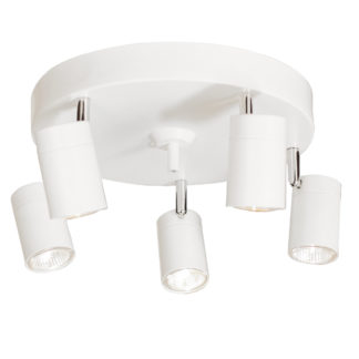 Correct rondell 5-lys hvit