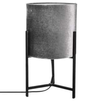 Honey bordlampe sort m/grå skjerm