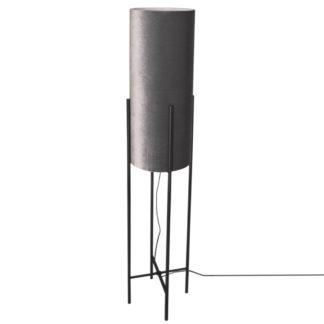 Honey gulvlampe sort m/grå skjerm