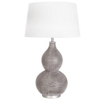 Lofty bordlampe satin m/skjerm