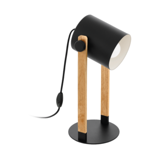 Hornwood bordlampe sort/tre
