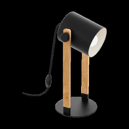 Hornwood bordlampe sort/tre
