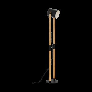 Hornwood gulvlampe sort/tre
