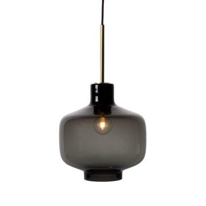 Arkivlampe 4180 røkgrå m/messing oppheng