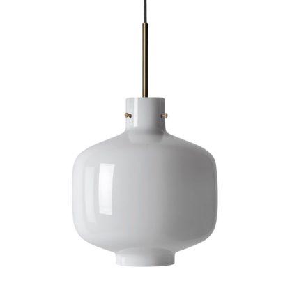 Arkivlampe 4180 hvit m/messing oppheng