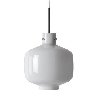 Arkivlampe 4180 hvit m/stål oppheng