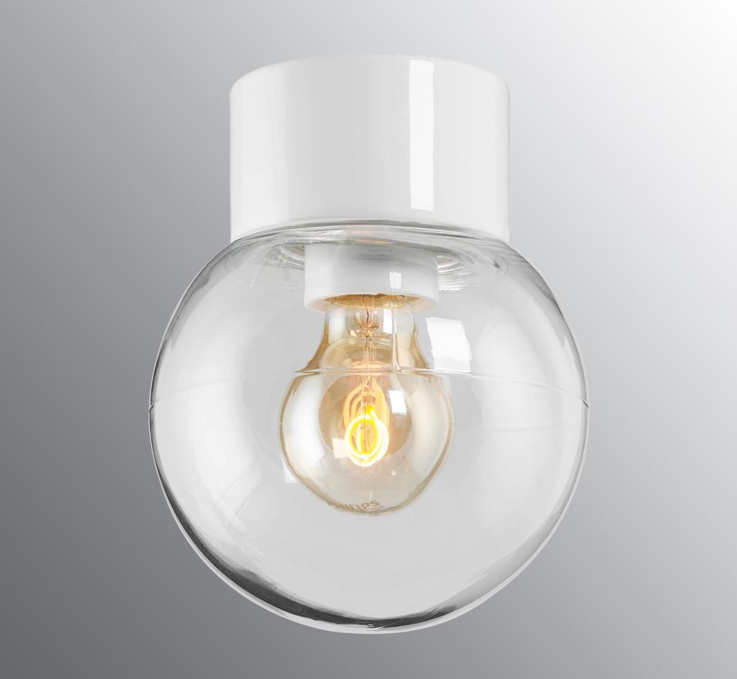 Classic Glob hvit/klar Ø15cm IP54
