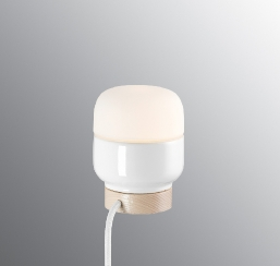 Ohm bordlampe 100/130 hvit/opal IP20