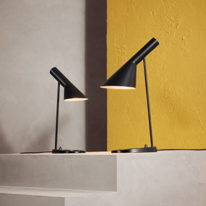AJ mini bordlampe pale petroleum