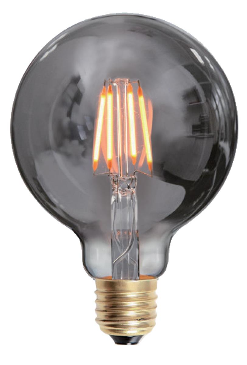 Edison LED globe 95mm smoke