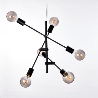 Cross-6 taklampe matt sort