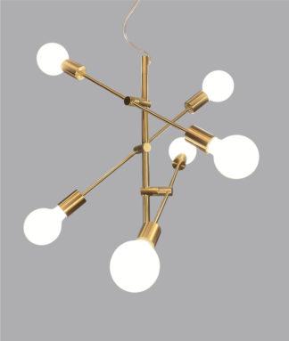 Cross-6 taklampe messing