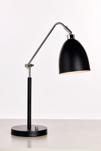 Medina bordlampe m/dimmer sort