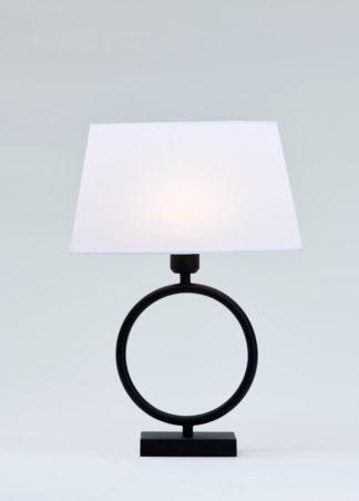 Riva-1 bordlampe matt sort m/skjerm