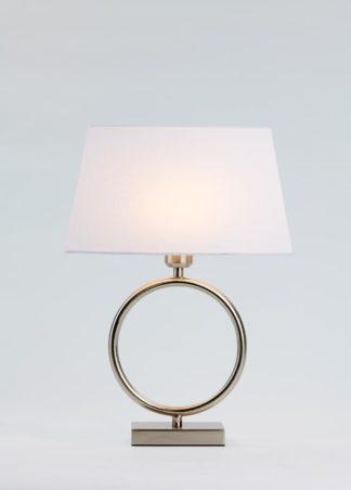 Riva-1 bordlampe stål m/skjerm
