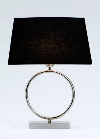 Riva-2 bordlampe stål m/skjerm