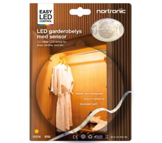 LED Garderobelys m/sensor IP20