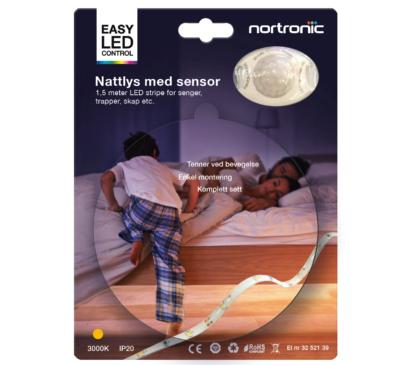 Nattlys-kit m/sensor