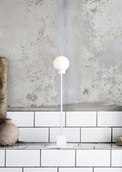Snowball bordlampe hvit