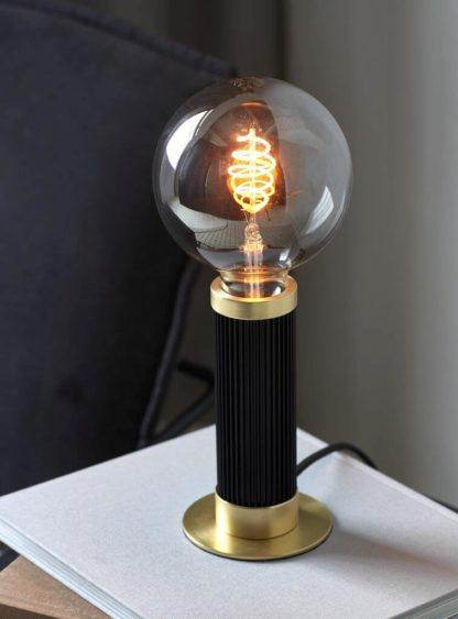 Galloway bordlampe sort/messing