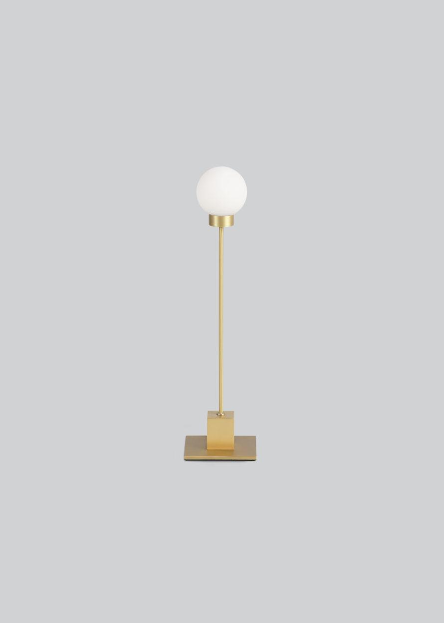 Snowball bordlampe messing