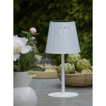 Alvar bordlampe solcelle/USB hvit