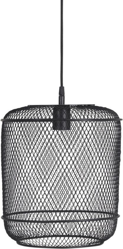 Grid pendel sort Ø27cm