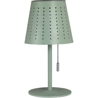 Halvar bordlampe solcelle/USB grønn