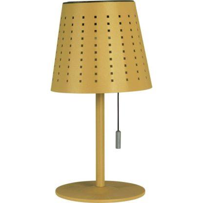Halvar bordlampe solcelle/USB gul
