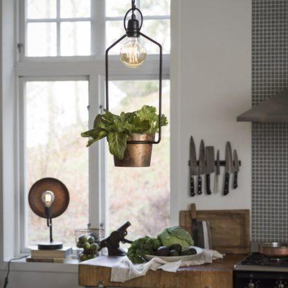 Upptown pendel m/potte og lys