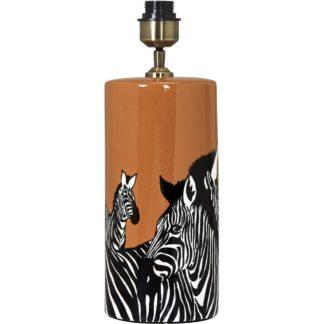 Zebra bordlampe u/skjerm