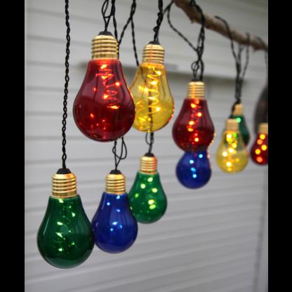 Glow lys-slynge IP44 m/farger